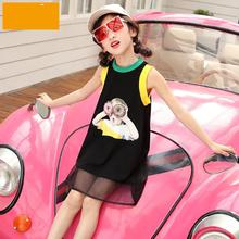 Toddler Dress 2019 Summer Print Sleeveless Kids Dresses For Girls 4 5 6 7 8 9 10 11 12 13 Years White Black Princess Tutu Dress цена в Москве и Питере