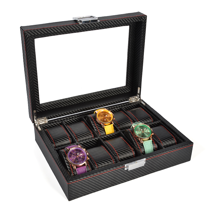 2019 New 10 Grids Watch Case Watch Boxes Casing for Hours Sheath for Hours Box for hours Watch 61 hours