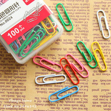 100pcs/box Colorful Paper Clips Office Supplies Bookmark Clip Memo Clip School & Office Supplies