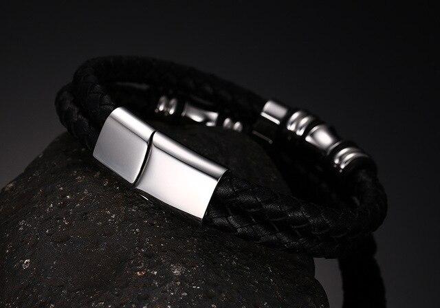 Фото 2020 модный мужской браслет черные ювелирные изделия из искусственной цена