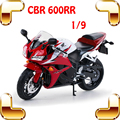 Nova Versão Do Presente Cbr600RR 1/9 Modelo de Rodas De Borracha & Frame Da Liga de alumínio Do Motor Da Motocicleta de Brinquedo Para Os Meninos Fãs Coleção De Carros de Metal