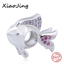 Hot sale Animal Fish With Color CZ Pendant charms Beads Fit Pandora Bracelet  925 Silver original jewelry making for women gifts hot sale animal fish with color cz pendant charms beads fit pandora bracelet 925 silver original jewelry making for women gifts