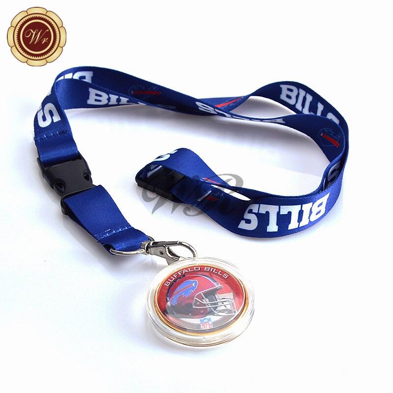 Américain NFL Buffalo Bills Lanière Souvenir Pièce 40*3mm Buffalo Bills Or Coin Ligue Nationale