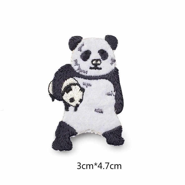 Jepang Stylle Kartun Hewan Bros Beruang Panda Bordir Pin untuk Anak Perempuan Kerah Pin Topi/Tas Pin Wanita Lencana Q789