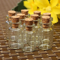 10pcs Cute Mini Clear Cork Stopper Glass Vials Jars Containers Wishing Bottles