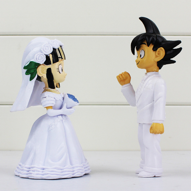 Dragon Ball Z 2Pcs/Set Son Goku ChiChi Wedding PVC Action Figure Toy