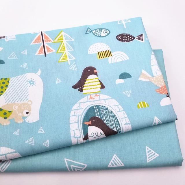 Đáng yêu gấu bắc cực 100% Cotton cho bé Quilting vải cho DIY may Miếng dán cường lực vải tấm vải
