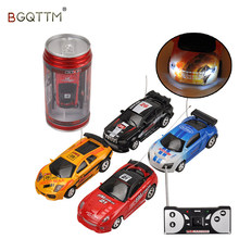 5PCS Wholesale 1:64 Mini Coke Can RC Car Radio Remote Control Micro Racing Cars Remoto Electronic Kids Toys Birthday Gift(China)