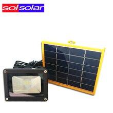 Водонепроницаемый 10 Вт солнечный свет Потока с 5 М провода + 2200mA батареи 12 СВЕТОДИОДНЫЙ Датчик Солнечного Света Сад Лагерь Лампы Пятно свет