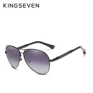 Image 2 - KINGSEVEN High Quality Pilot Sunglasses Men Polarized UV400 Sun glasses Goggle Oculos De Sol Accessories Driving Eyewear