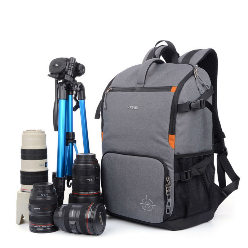 все цены на SINPAID Waterproof DSLR SLR Camera Backpack Photography Bag Cases Two Layers Design for Travel and Canon EOS Nikon Sony Olympus