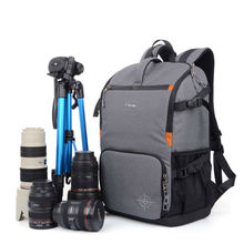 SINPAID Waterproof DSLR SLR Camera Backpack Photography Bag Cases Two Layers Design for Travel and Canon EOS Nikon Sony Olympus