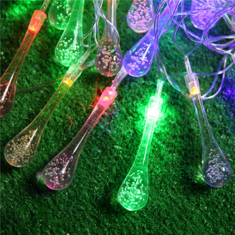 Ac220v 5m 28led Crystal Bubble Water Drop String Fairy