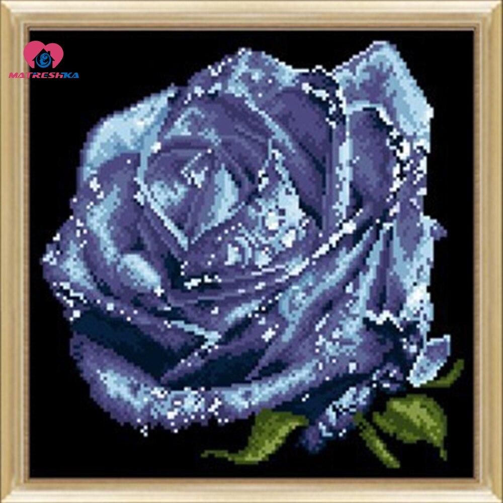 30 cm * 30 cm perles broderie kit or rose fleur peradwork artisanat couture bricolage artisanat crochet feutre manualidades couture à la main