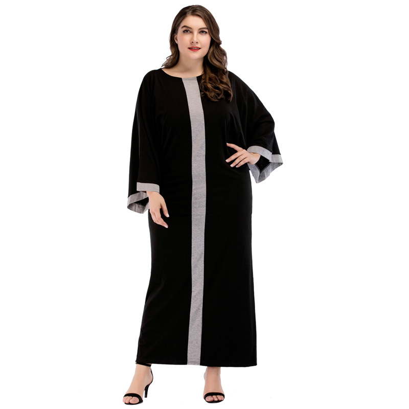 Oversized Maxi Long Night Dress Summer 2018 Fashion Women's Black Stripe Dressing Gowns Big Size Sleepwear Plus Size Nightgowns