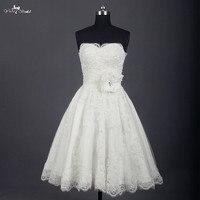 RSW745 Short Wedding Dresses Knee Length Lace Ivory Simple Vintage Wedding Gown Bride Dress Bridal Gown