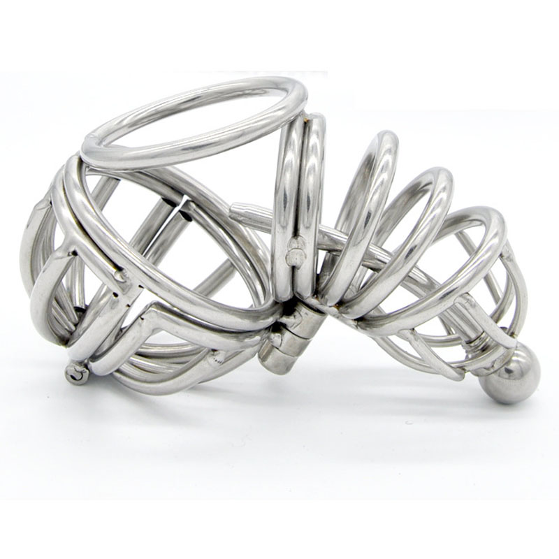 Stainless steel ball stretcher scrotum penis bondage cock cage male chasity device urethral plug cock rings sex toys for men недорго, оригинальная цена
