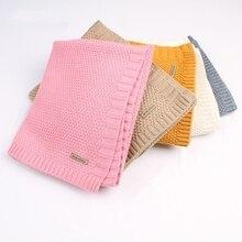 Детское одеяло, вязаное шерстяное одеяло для новорожденных, супер мягкое одеяло для младенцев, пеленание для детей, постельные принадлежности для малышей