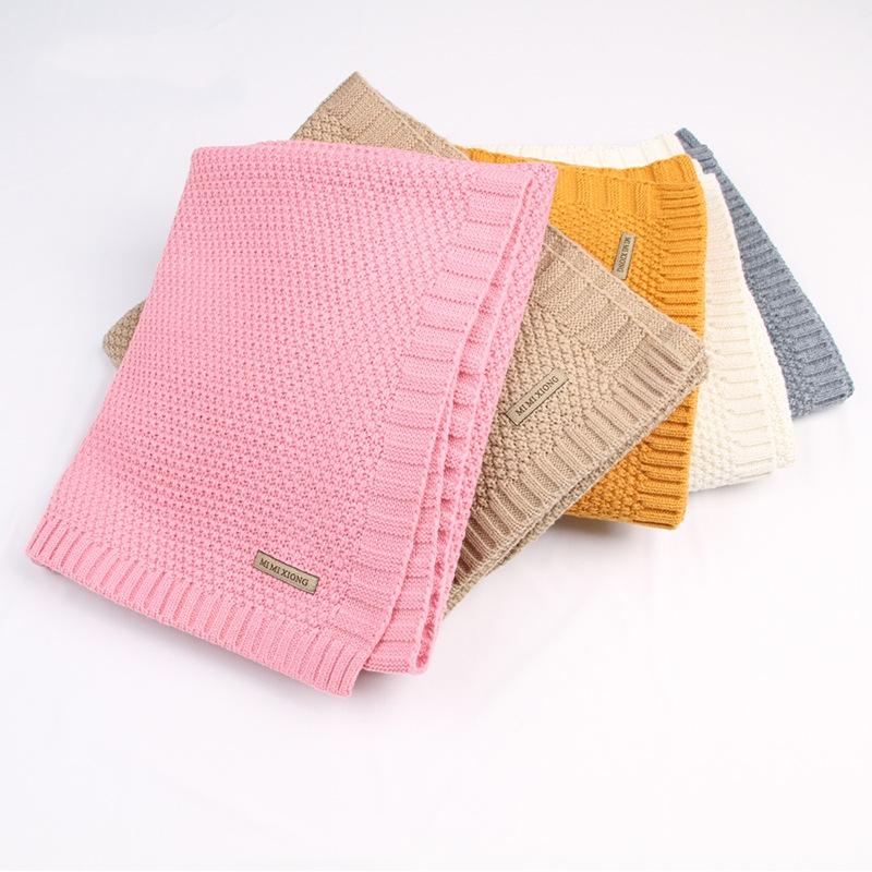 Baby Blanket Knitted Newborn Blankets Super Soft Stroller Wrap Infant Swaddle Kids Inbakeren Stuff For Monthly Toddler Bedding
