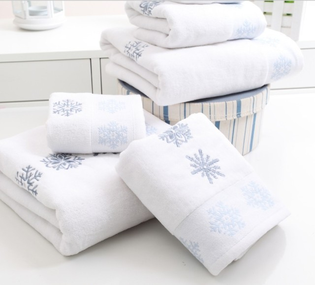 aliexpress  buy new snow flowers christmas towel set piece, Home design