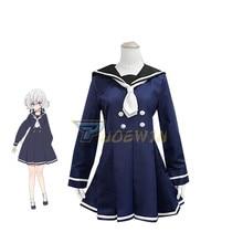Anime Zombie Land Saga Junko Konno Cosplay Uniform Costume Halloween Dark Blue Dress