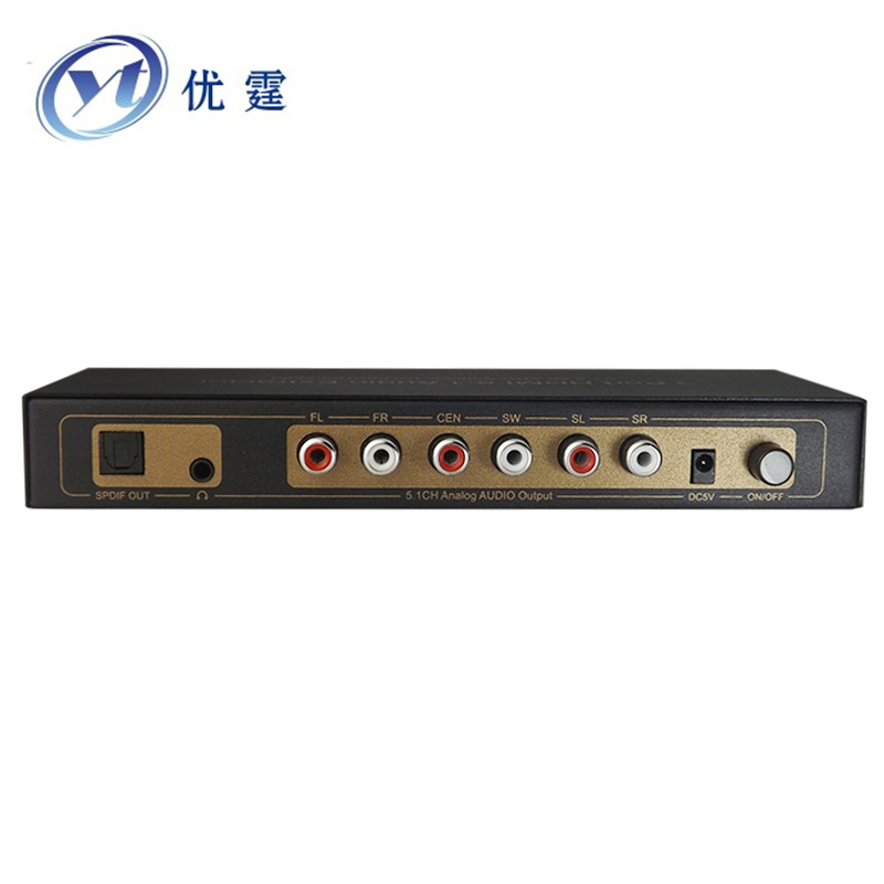 YOUTING 1.4v 3X1 HDMI Switcher Audio Extractor 4K ARC Audio EDID 5.1/2CH with DTS AC-3 Dolby audio format True decoder