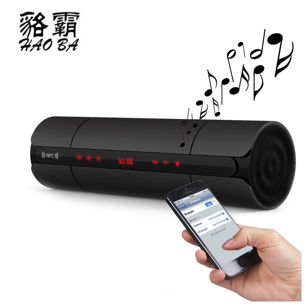 HAOBA KR8800 Blutooth Speaker Music Mini Led Wireless Portable Bluetooth Speaker For Phone FM Radio Player Loudspeaker Sound Box niorfnio portable 0 6w fm transmitter mp3 broadcast radio transmitter for car meeting tour guide y4409b