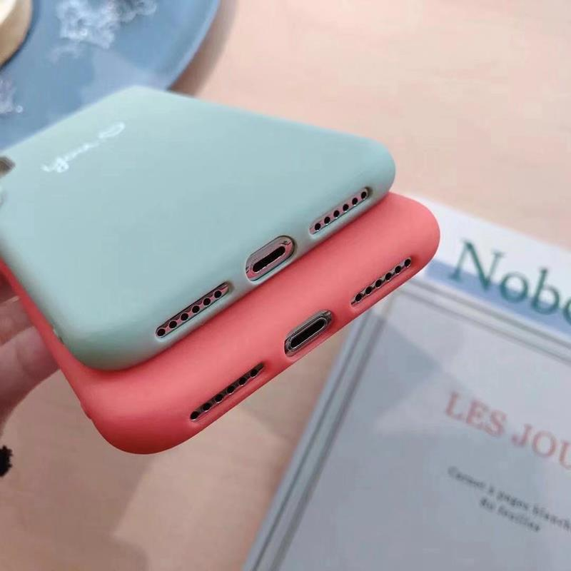 Cute Matcha green Couple Letter Me you Case For iPhone XS MAX XR X Case Soft Candy Phone Case For iPhone 7 8 6 S 6s plus cover (6)