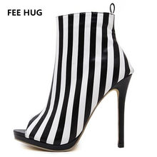 7da0557d2 2017 Women High Heels Sandals Woman s White Black Ankle Strap Gladiator  Boots Sandals Thin Heels Peep Toe Pumps Women Shoes 40