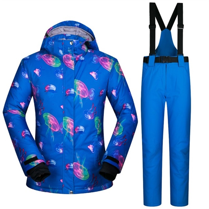 winter walking -30 deegree ski suit women high quality female snowboard jackets and pants sets windproof waterproof thermal S-XLwinter walking -30 deegree ski suit women high quality female snowboard jackets and pants sets windproof waterproof thermal S-XL