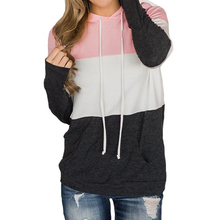 Pink Women Winter Hooded Pullovers – Casual Warm Sweatshirts with Long Sleeve – Plus Size