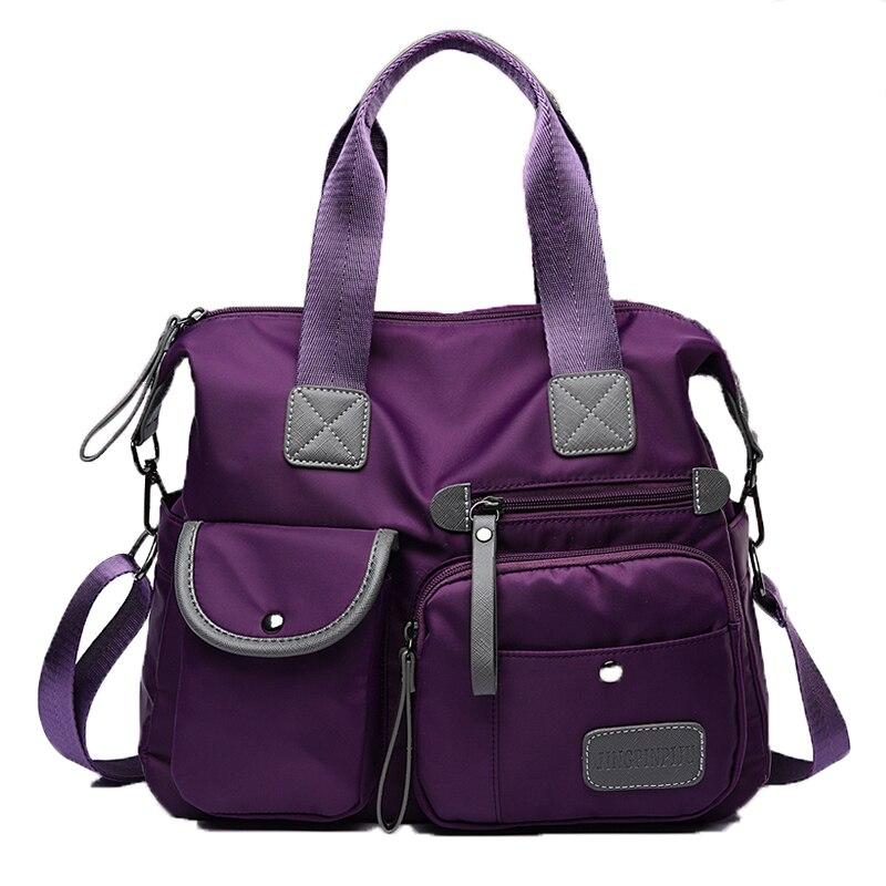 Новая женская сумка ткань Оксфорд Мама Сумочка плечо перекинул большой емкости дорожная сумка фиолетовый красный черный синий многоцветны...