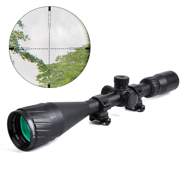 HAVVKE 5-20X50 AOIR Rifle Scope Red &Green&Blue Optical Sight Riflescope Hunting Scopes for Airgun Air Rifle смартфон apple iphone 6s розовое золото 4 7 32 гб wi fi gps 3g lte nfc mn122ru a