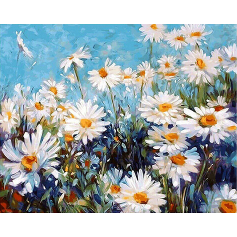Flying Wild Chrysanthemum Hand Made Paint High Quality Canvas Beautiful Painting By Numbers Surprise Gift Great Accomplishment