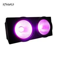 2X100W LED BLINDER 200W COB PAR RGBW+UV 6IN1 DMX STAGE 2 EYES LIGHTING EFFECT AUDIENCE LIGHTING FOR TV SHOW SPECTATOR SEATS