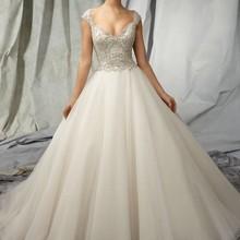 SexeMara 2016 Custom made Backless A-line Wedding Dress