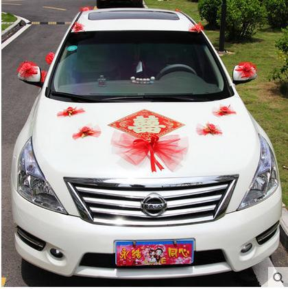 Bow Personalized Wedding Car Decorated Korean Deputy Vice