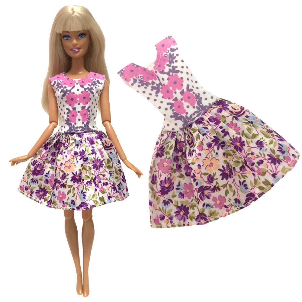 NK 2019 yeni oyuncak bebek giysileri el yapımı parti bebek elbise moda elbise elbisesi barbie bebek bebek hediye DIY oyuncaklar Mix tarzı 025A JJ