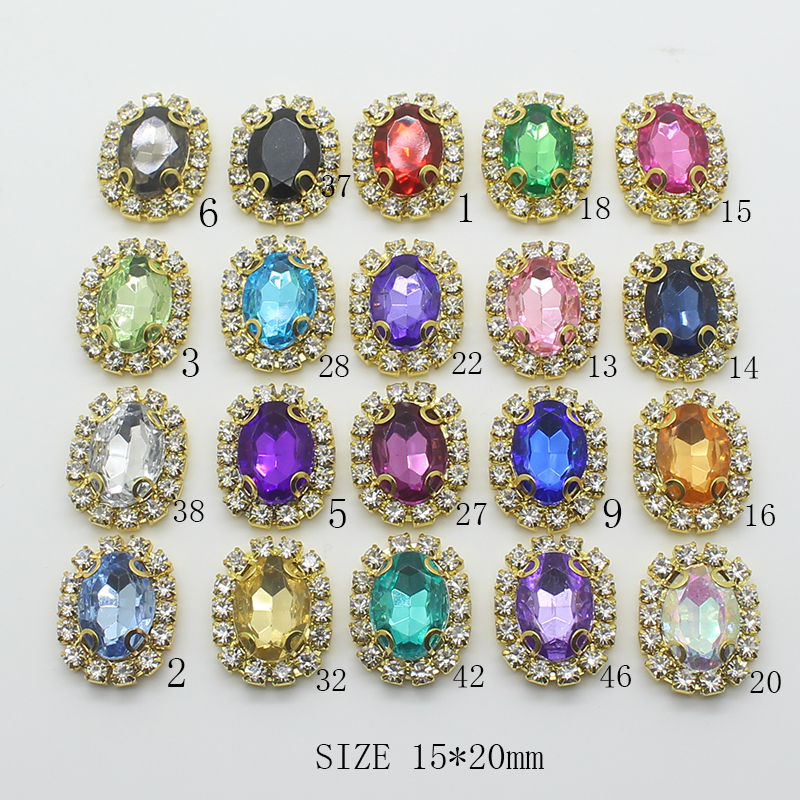 YWXINXI 15--20mm Jewelry-Accessories Handwork 10pcs/Lot Caps-Decor Fitting Embellishments