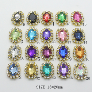 YWXINXI New Sale Price 10Pcs/Lot 15*20MM Jewelry Accessories Handwork Fitting Rhinestones Pedestal Embellishments Caps Decor For