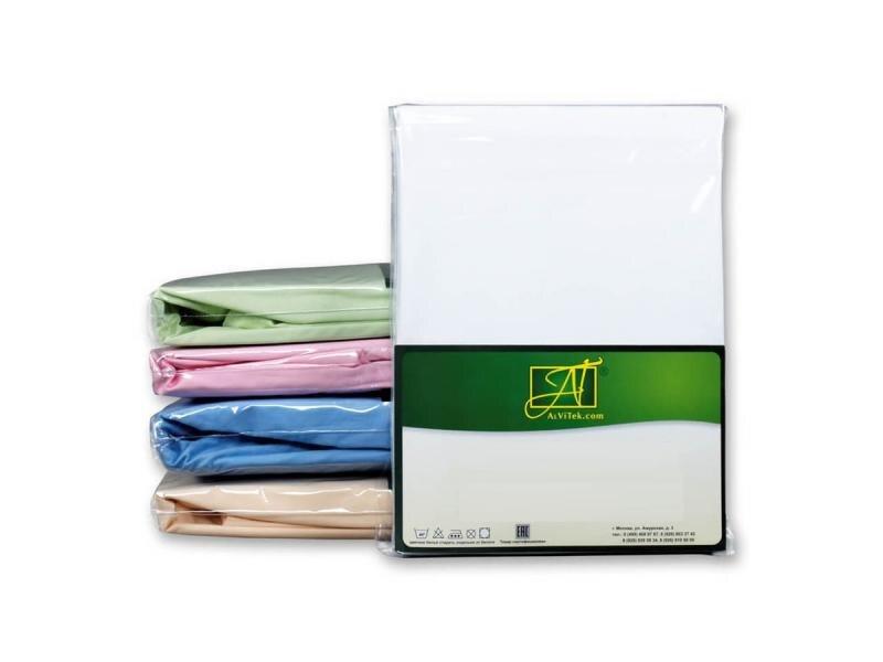 Фото - Bed Sheet АльВиТек, 150*214 cm, White bed sheet альвитек 150 214 cm white