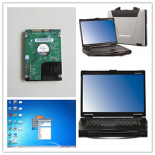 For bmw icom software laptop toughbook cf52 ram 4g hdd 500gb windows7 newest software 2018.03 multi languages