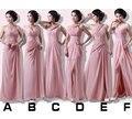 Linha de Halter vestidos de dama de honra Chiffon estilo Mix para casamento