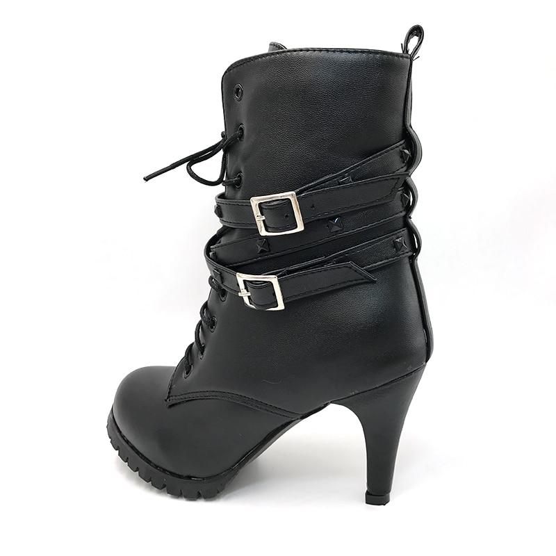 Neige Courte Haute Botas Noir Demi Taoffen Martin Moto Femmes Taille Bootas 43 Cheville Boot P940 34 Chaussures Chaud Talon D'hiver Nw8mynOv0