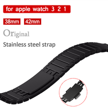 купить CRESTED Luxury Strap for Apple Watch band 42mm 44mm iWatch 4/3/2/1 40mm 38mm Stainless Steel Link Bracelet Wrist Belt Watchband дешево