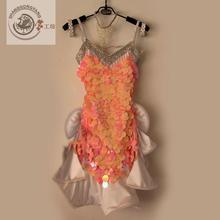 New style latin dance costume sexy sequins spandex latin dance competition dress for women child latin dance dresses S-4XL
