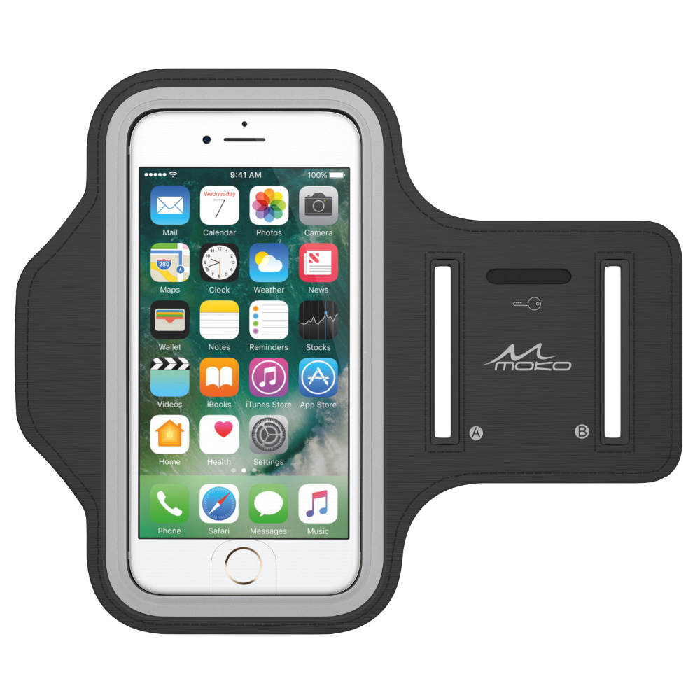 "Sports Armband,Water Resistant Running Case Workout Arm Band Cover For IPhone 8, IPhone 7,6S & More,(Fits Arm Girth 12.6""-19.3"")"