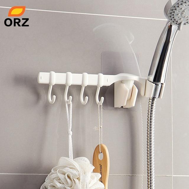 Orz Bathroom Hooks Shower Holders Set Wall Mount Magic Sticker