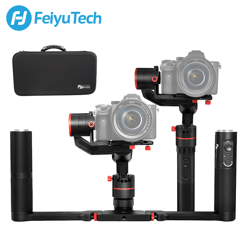 FeiyuTech a1000 3 Axis Gimbal Handheld Stabilizer for NIKON SONY CANON Mirrorless Camera Gopro Action Cam Smartphone 1.7kg Load wewow sport x1 handheld gimbal stabilizer 1 axis for gopro hreo 3 3 4 smartphone iphone 7 plus yi 4k sjcam aee action camera