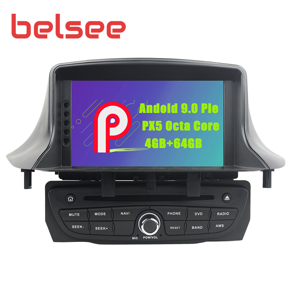 Belsee for Renault <font><b>Megane</b></font> <font><b>3</b></font> Fluence MK3 2009 -2016 Android 9.0 Car Radio Stereo <font><b>GPS</b></font> Bluetooth WiFi Autoradio DVD Player Sat Navi image